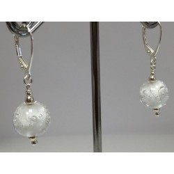 "Earings, white  ""Oxygene Collection """