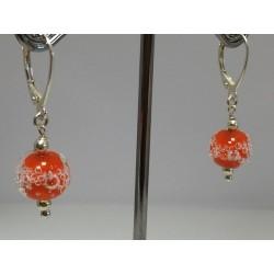 """Boucles d'oreilles oranges """" collection oxygène"""""""