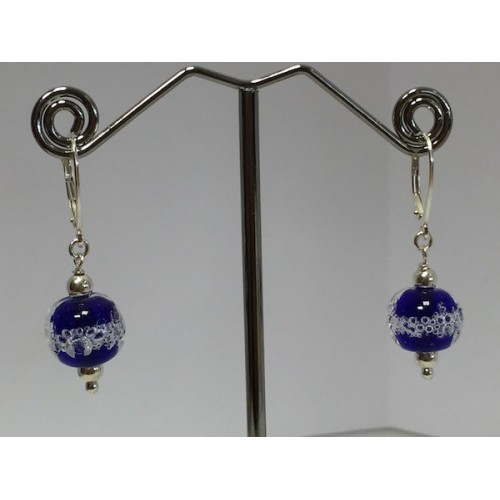 "Earrings, navy blue  ""Oxygene Collection"""