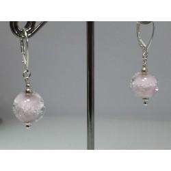 """Boucles d'oreilles rose """" collection oxygène"""""""