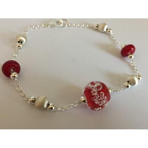 "Bracelet red ""oxygene"" collection"