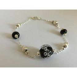 """Bracelet noir collection """"oxygène"""""""
