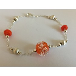 "Bracelet orange  ""oxygene"" collection"