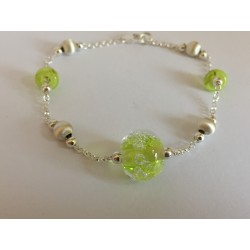 "Bracelet anise green ""oxygene"" collection"