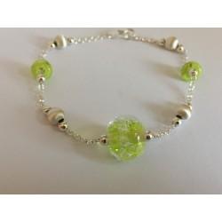 "Bracelet  vert anis collection ""oxygène"""