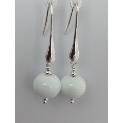 """Boucles d'oreilles collection """"Goutte"""" blanc"""