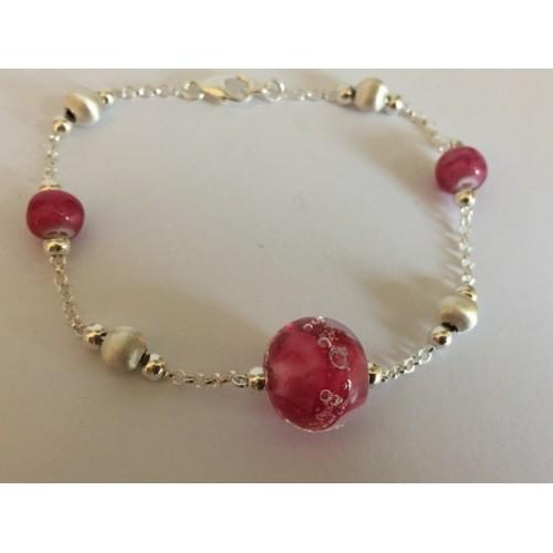 "Bracelet dark pink ""oxygene"" collection"