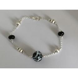 """Bracelet Collection """"Louise""""  noir"""
