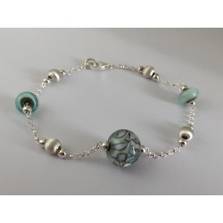 "Bracelet aqua green ""Louise Collection"""