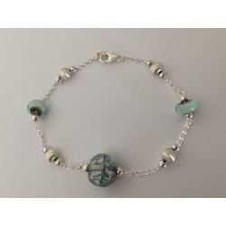 """Bracelet Collection """"Louise"""" vert d'eau"""