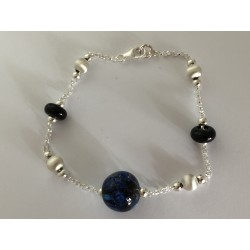 """Bracelet Collection """"Louise""""  bleu"""