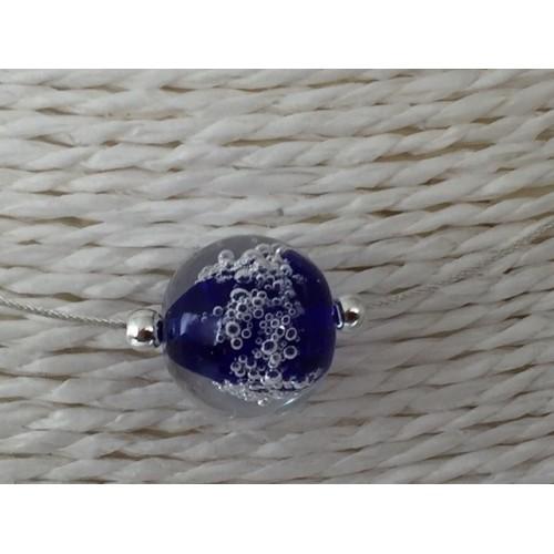 "Pendentif bleu marine Collection ""Oxygène"""