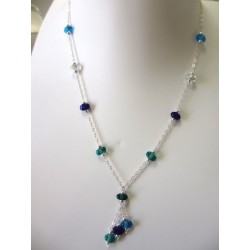 """Necklace blue """"Coffee bean"""" collection"""