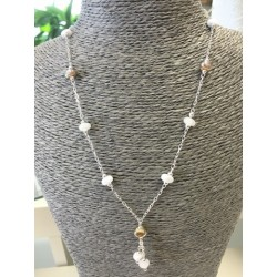 """Necklace white """"Coffee bean"""" collection"""