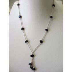 """Necklace  black """"Coffee bean"""" collection"""