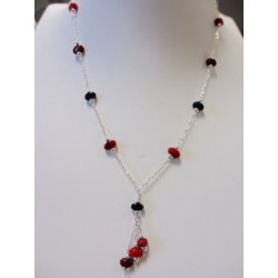 """Necklace red """"Coffee bean"""" collection"""
