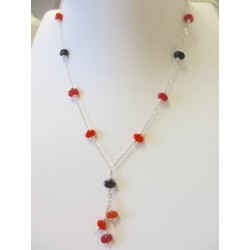 """Necklace orange """"Coffee bean"""" collection"""