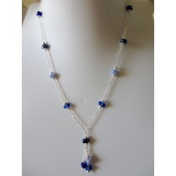 """Necklace blue jeans """"Coffee bean"""" collection"""