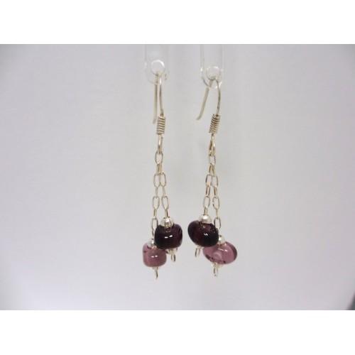 "Earrings purple collection "" coffee bean """
