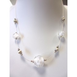 """Necklace white """"Oxygene"""" collection"""