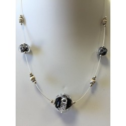 """Necklace black """"Oxygene"""" collection"""
