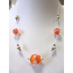 """Necklace orange """"Oxygene"""" collection"""