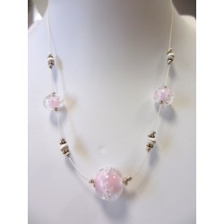 """Necklace pink """"Oxygene"""" collection"""