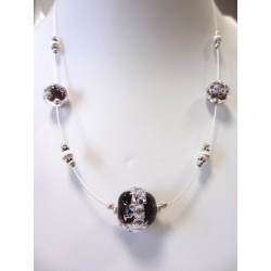"""Necklace purple """"Oxygene"""" collection"""