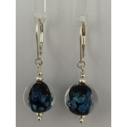 """Earrings navy blue """"Louise collection"""""""