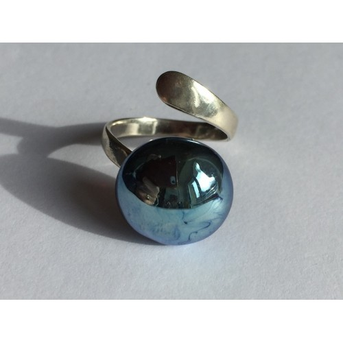 Ring adjustable -  seems metal blue