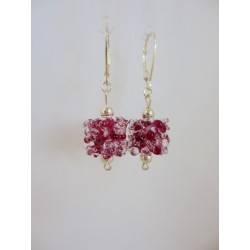 "Boucles d'oreilles ""collection flocon"""