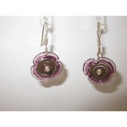 """Earrings purple """"jumping necklace"""" collection 2015"""
